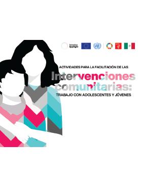 Portada actividades para la facilitación de las intervenciones comunitarias trabajo con adolescentes y jovenes