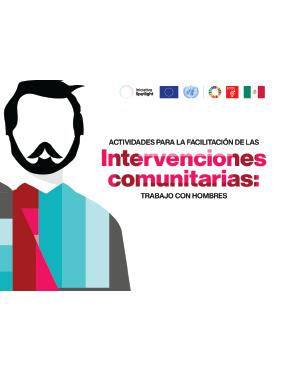 Portada actividades para la facilitación de las intervenciones comunitarias trabajo con hombres