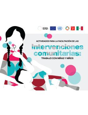 Portada actividades para la facilitación de las intervenciones comunitarias trabajo con niñas y niños