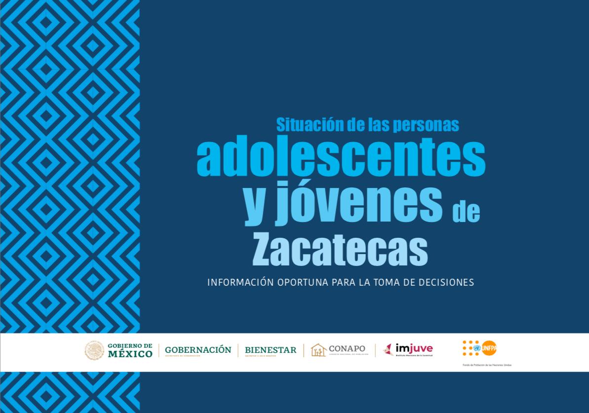 Situación de las personas adolescentes y jóvenes de Zacatecas