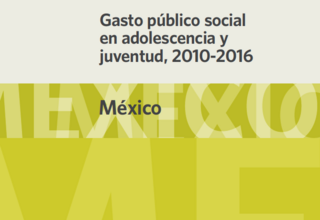 Gasto público social en adolescencia y juventud, 2010-2016